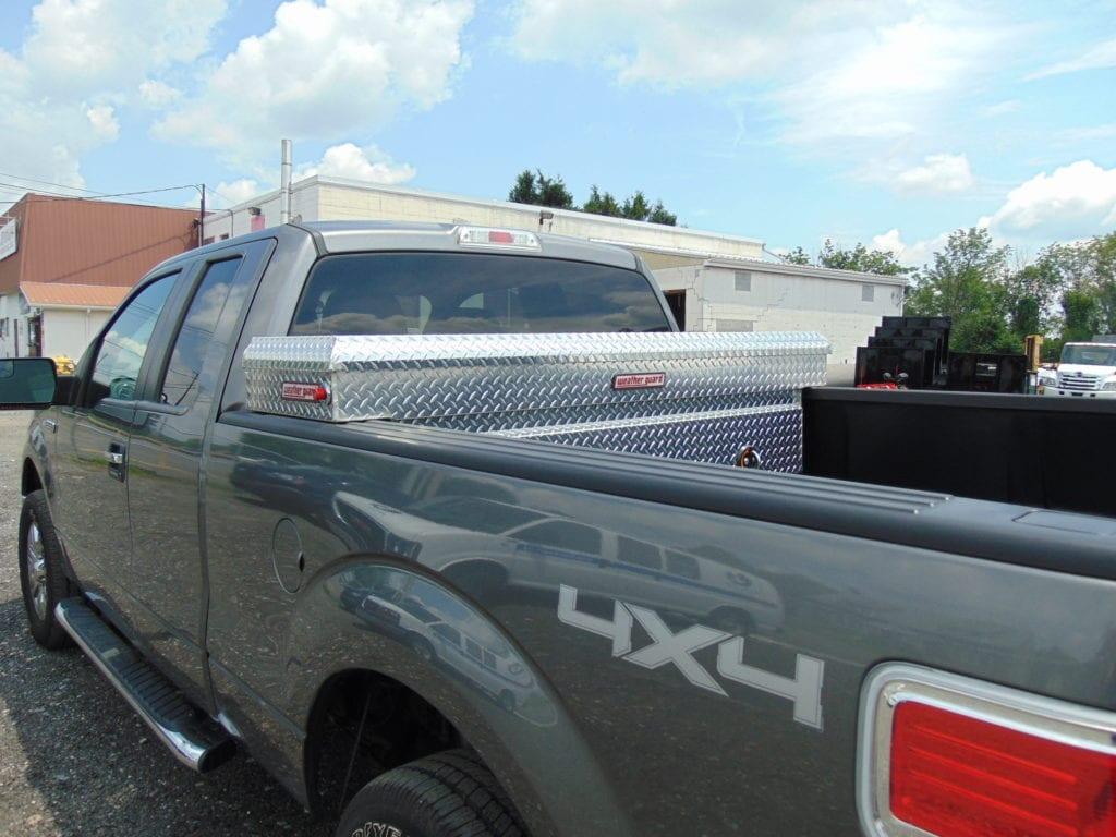 storage for grey pickup truck