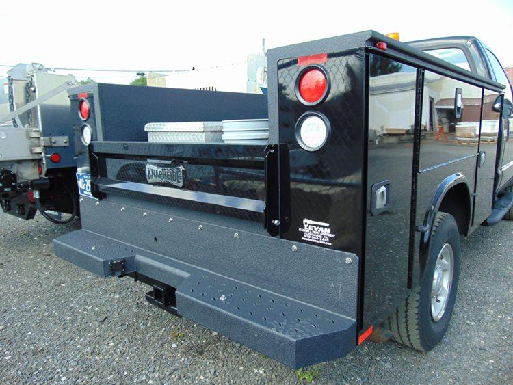Black work truck rear