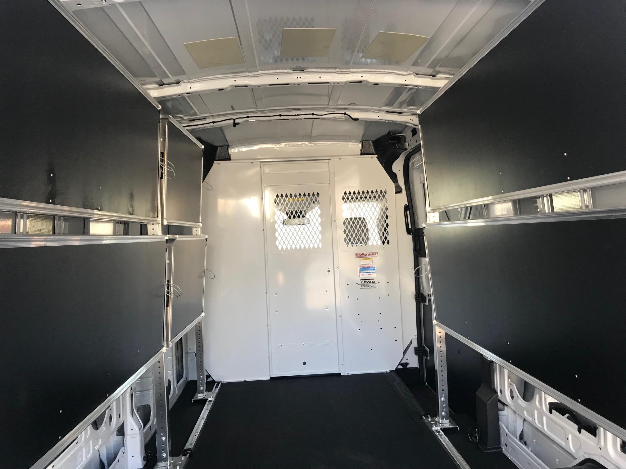 empty back of work van