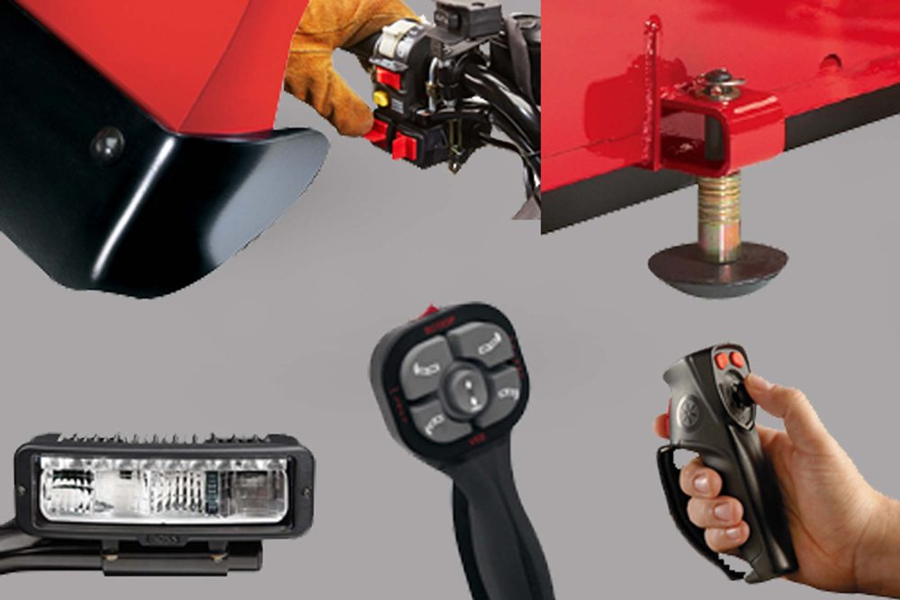 Collection of snowplow accessories product imagery