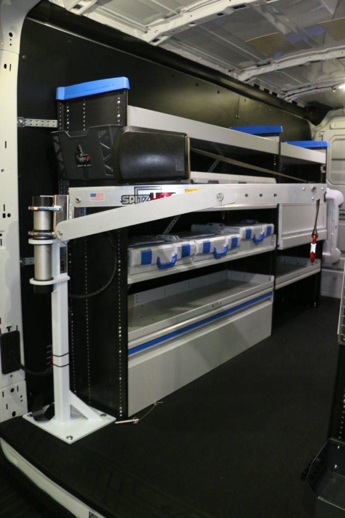 van solutions Sortimo storage w-SpitzLift crane