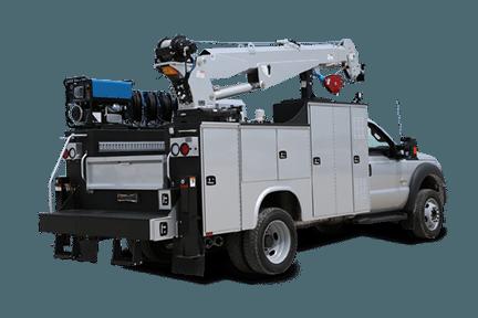 white lube truck 3D rendering